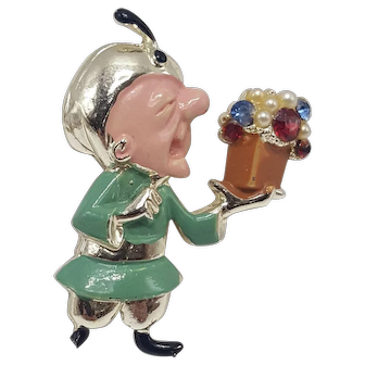 Mr. Magoo Pin With Fortune Teller Hat and Magical Gift Box