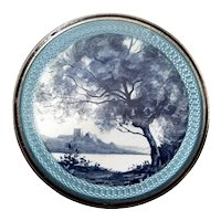 Scenic Guilloche Enamel Trinket or Patch Box