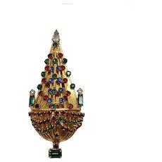 Vintage Joseph Warner Christmas Tree Pin
