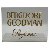 Bergdorf Goodman Perfumes Clear Plastic Counter Display