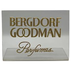 Bergdorf Goodman Perfumes Clear Plastic Counter Display