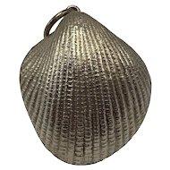 "Modernist Tane Sterling Silver ""Heart-Shaped"" Scallop Seashell Pendant"