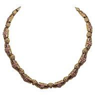 Swarovski Jeweler's Collection Pink and Citrine Gold-tone Choker With Original Price Tag