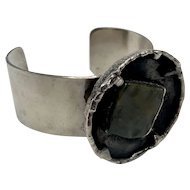 Modernist Danish Cuff Bracelet by J. Anderson and Erik Dennung Signed AD Design