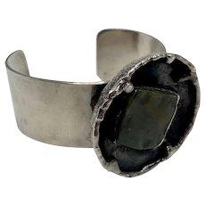Modernist Danish Cuff Bracelet by J. Anderson and Erik Dennung Signed AD Design