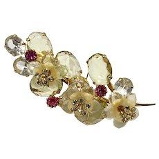 Vendome Three-Dimensional Floral Stemmed Brooch