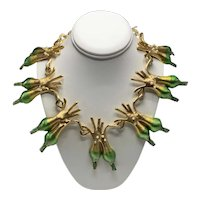Rare Vintage Allison Mager 14-Leeks Necklace