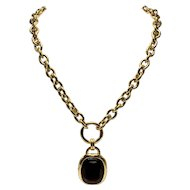 Joan Rivers Extra Long Necklace with Topaz-Look Pendant