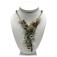 Vintage Handmade One-of-a-Kind French Glass Beaded Necklace