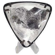 Vintage Emporio Armani Triangular Beveled Crystal Brooch