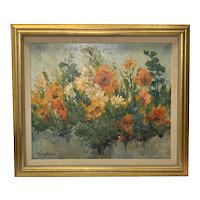 Nancy Jayne Lund Original Oil On Canvas Framed Floral Painting