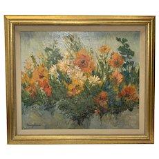 Nancy Jayne Lund Original Oil On Canvas Framed Floral Painting