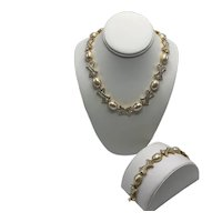 "Discontinued Nolan Miller ""Hugs and Kisses"" Necklace with Matching Extender and Bracelet"
