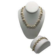 """Discontinued Nolan Miller """"Hugs and Kisses"""" Necklace with Matching Extender and Bracelet"""