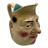 Sarreguemines French Majolica Character Jug