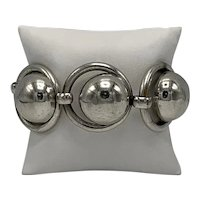 1960s Silver-look Ball and Sphere Link Bracelet