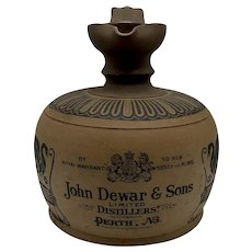 """John Dewar & Sons Doulton Egyptian Style Advertising Jug """"To His Majesty The King"""""""
