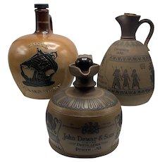 Three Royal Doulton Stoneware Jugs Advertising Various Scotch Whiskies