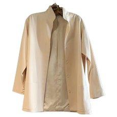 Vintage Christian Dior Lightweight Wool Champagne Color Fingertip Length Jacket
