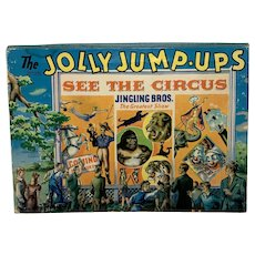 "1944 Book: Jolly Jump-Ups ""See the Circus Jingling Bros. The Greatest Show"""