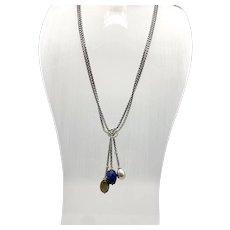 David Yurman Sterling & Gold Tassel Necklace