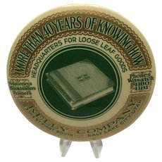 Vintage Kelly Company Paperweight/Hand Mirror Advertising Collectible