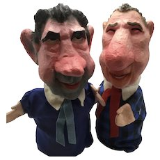 Rare Richard Nixon and Spiro Agnew Puppets Created by Rick Meyerowitz