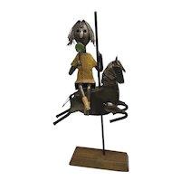 1964 Metal Art Sculpture Manuel Felguerez Girl on Carousel Horse