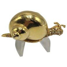 Hinged Snail KJL (Kenneth J Lane) Pill or Trinket Box