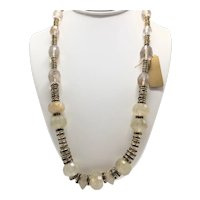Erikson Beamon Necklace With Dendritic Quartz and Rock Crystal
