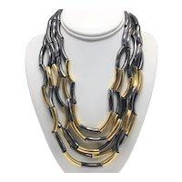 Claudia Lobão Five-Strand Tubular Necklace
