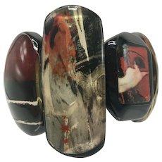 Donatella Pellini Italy Modernist Resin Stretch Bracelet