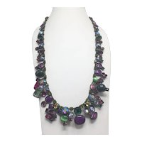 Retired Sorrelli Necklace with Rich Vibrant Tones and Swarovski Crystals $124