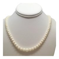 """Angelskin Coral 18"""" Necklace with Graduated Beads"""