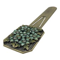 Jay Strongwater Bookmark with Floral Enamel and Crystal Top