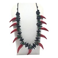 Red Hot Chili Peppers and Black Discs Necklace
