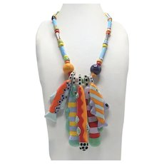 Parrot Pearls Catch-of-the-Day Five Colorful Fishes Necklace