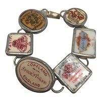 Bracelet with Porcelain Factory Marks Including England, France, and Japan