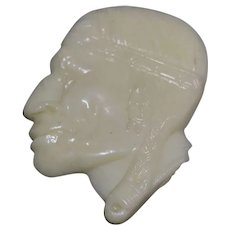 1940's Bakelite Art Deco Indian head