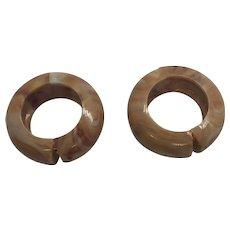 Bakelite clip on earrings
