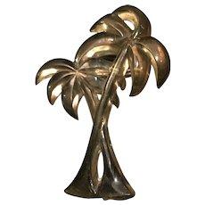 1930's Apple juice Bakelite palm tree brooch