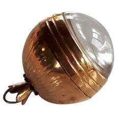 Vintage 15 jewels Swiss Westbury Women 12 carat Karat yellow rolled gold sphere orb watch pendant crystal window