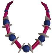 Vintage unusual plastic beaded Necklace