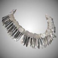 Vintage 50's Clear Lucite Statement Choker Necklace