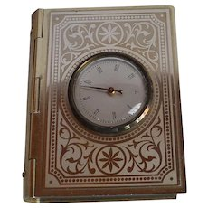 Antique France gold tone metal Box with thermometer