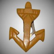 Art Deco Anchor bakelite dress clip