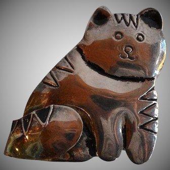 Vintage Artist Studio Cat Brooch Pin