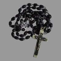 Antique monk habit style brown wood Catholic Rosary