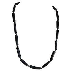 Vintage Hawaiian untreated Black Coral Necklace