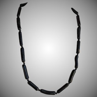 Vintage Hawaiian untreated Black Coral Necklace